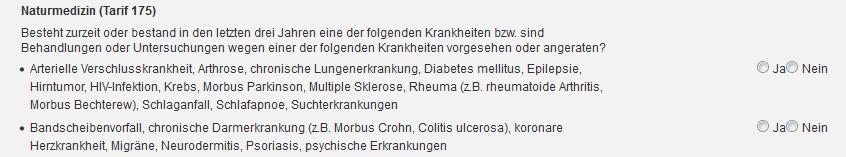 Gesundheitsfragen