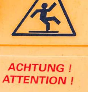 Achtung Unfallgefahr! Es droht Invalidität oder Berufsunfähigkeit